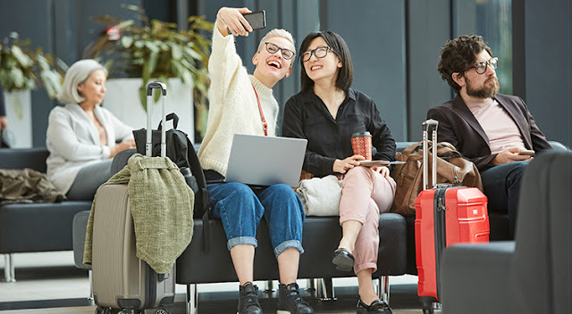 Dubai International Airport -waiting area