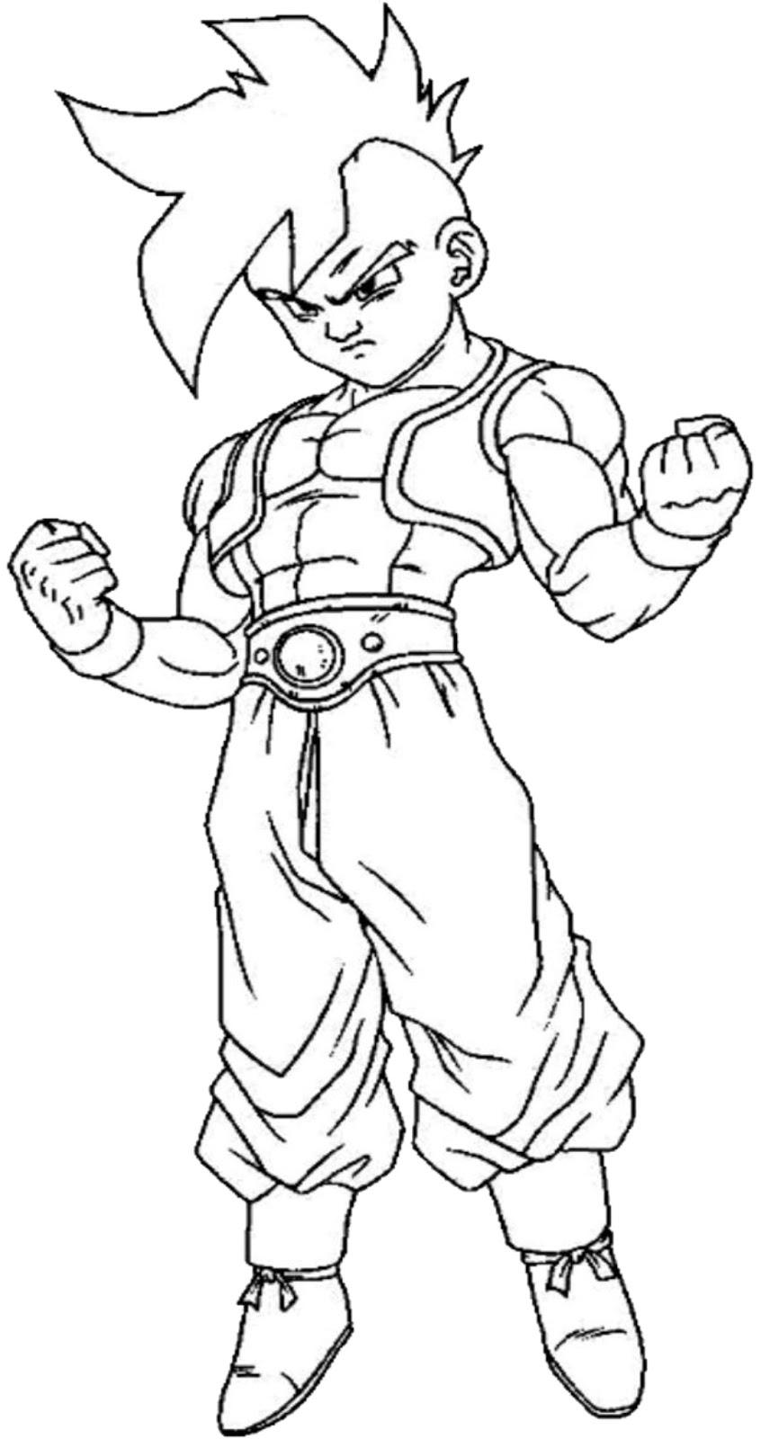 Adorável Desenhos Para Colorir Dragon Ball Z Goku Melhores