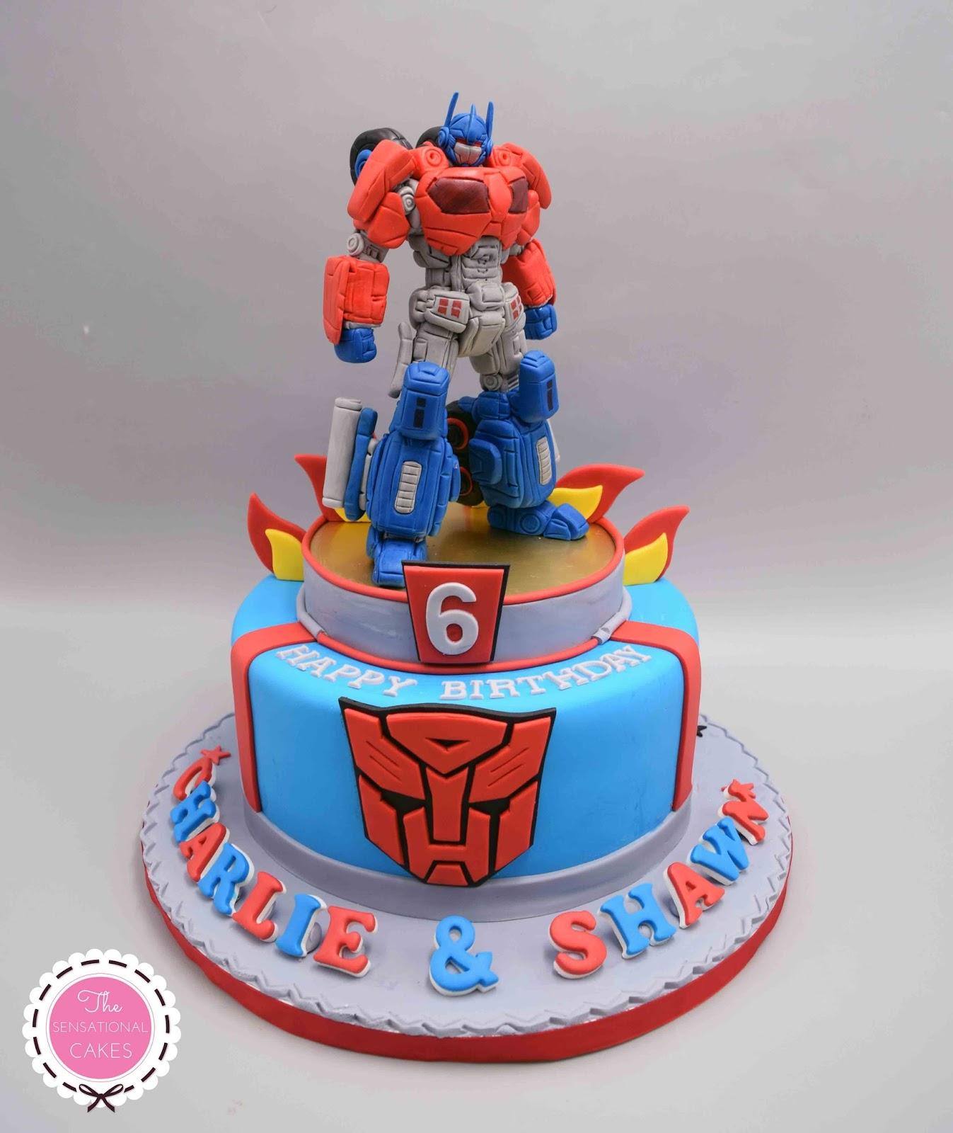 The Sensational Cakes Transformers Theme 3d Birthday Cake