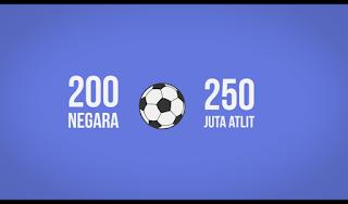 Sepak Bola Terlalu Populer Sampai sampai Dimainkan Lebih dari 200 Negara dan Lebih Dari 250 Juta Atlit Yang Siap Bertanding Dan FIFA adalah olehraga Terbesar