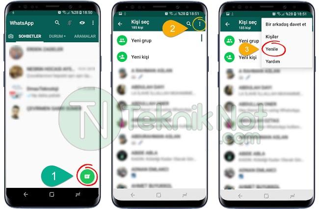 WhatsApp Kişi Silme, WhatsApp Kişi Silinmiyor Çözümü