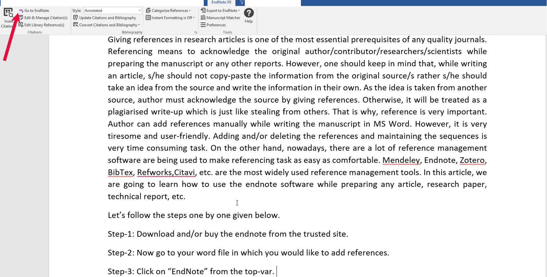 2. Reference Management by using EndNote