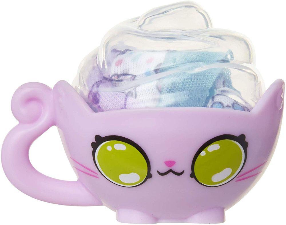Чайная чашка с сюрпризом браслетом Kitten Catfe Meowble Yarn bracelents in a teacup