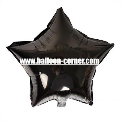 Balon Foil Bintang Warna Hitam