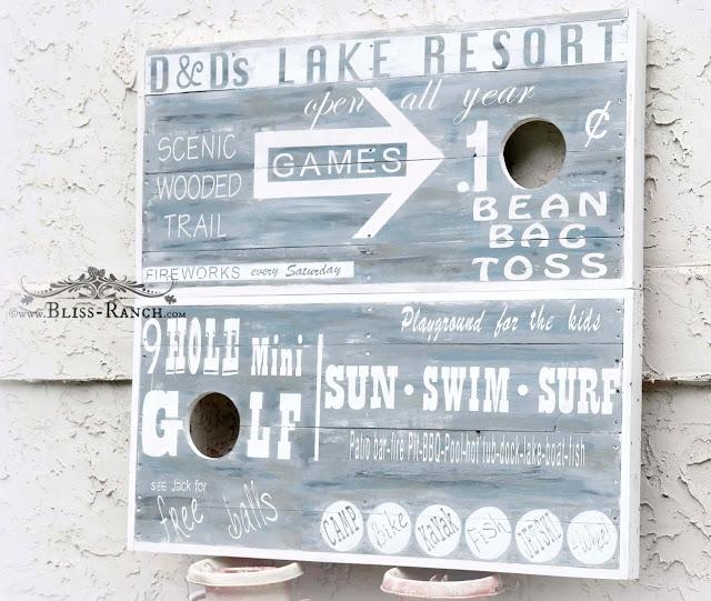 Bean Bag Toss Custom Boards Bliss-Ranch.com