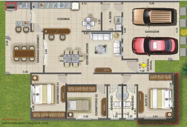 Plano de casa de 149 m2 planos de casas gratis y - Que es un porche de una casa ...