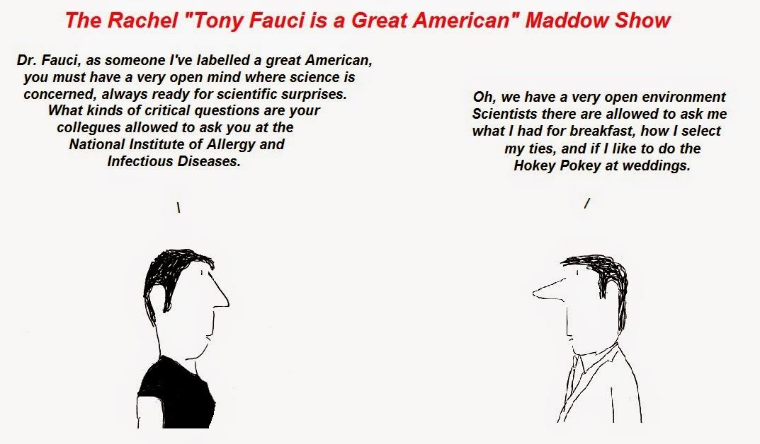 anthony fauci, rachel maddow, cfs, chronic fatigue syndrome, aids, cfs/aids apartheid, NIAID, msnbc