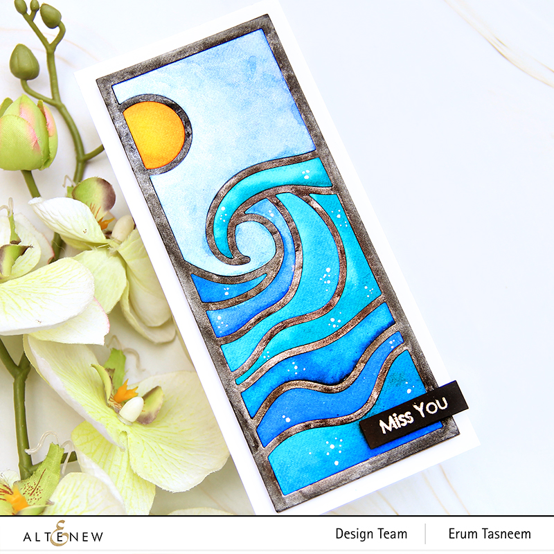 Altenew Abstract Seascape Slim Cover Die | Erum Tasneem | @pr0digy0