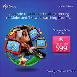 Cloudfone Excite 451 TV Offered Free Under Globe Plan 599