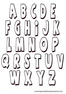 plantillas de letras para imprimir