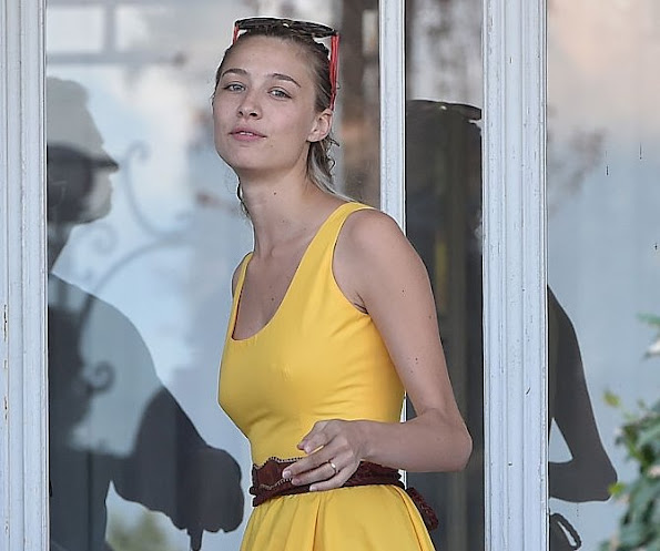 Pierre Casiraghi and Beatrice Borromeo are seen on August