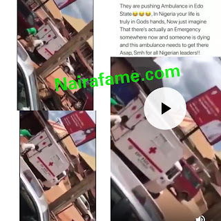Nigerians Lament After Seeing Some Men Pushing The Keke Napep Ambulance That Was Donated To Edo State by FG. VIDEO