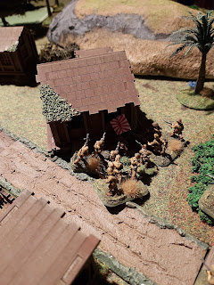 The Japanese attack the small house