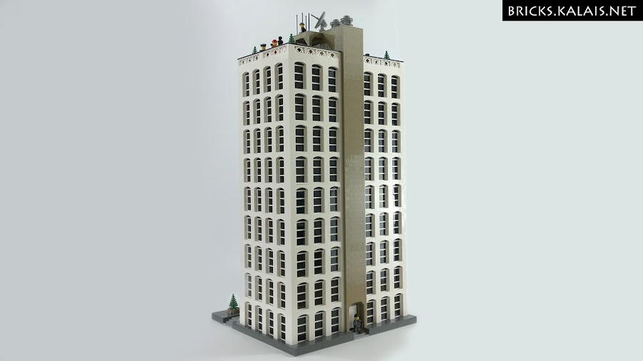 13. And the rear side of skycraper.