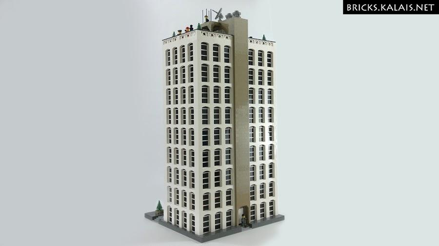 13. I fota tyłu wieżowca.