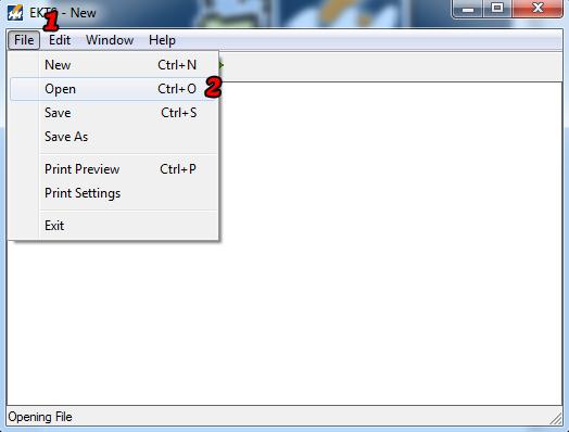 Open File EKTS 2
