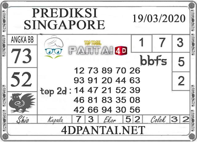 PREDIKSI TOGEL SINGAPORE PANTAI4D 19 MARET 2020