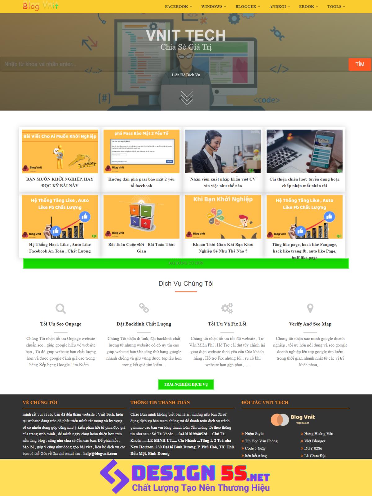 Template blogspot cá nhân tải trang siêu nhanh miễn phí