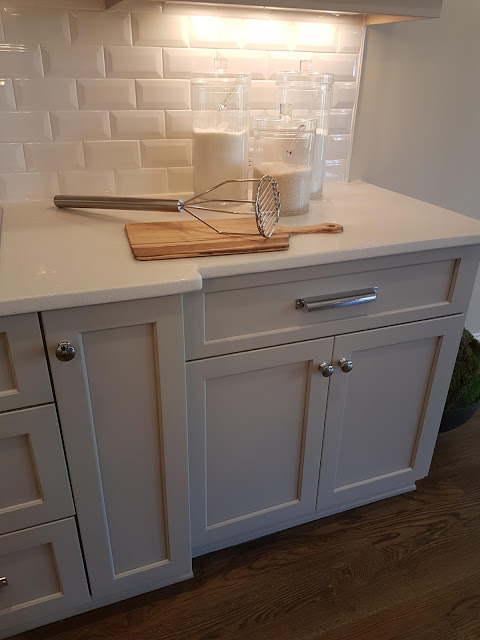 Cottage Painted kitchen cabinets colour Driftwood