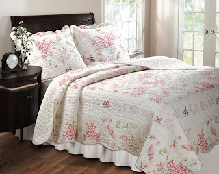 Greenland Home Coral Red Full/Queen 3-Piece Quilt Set