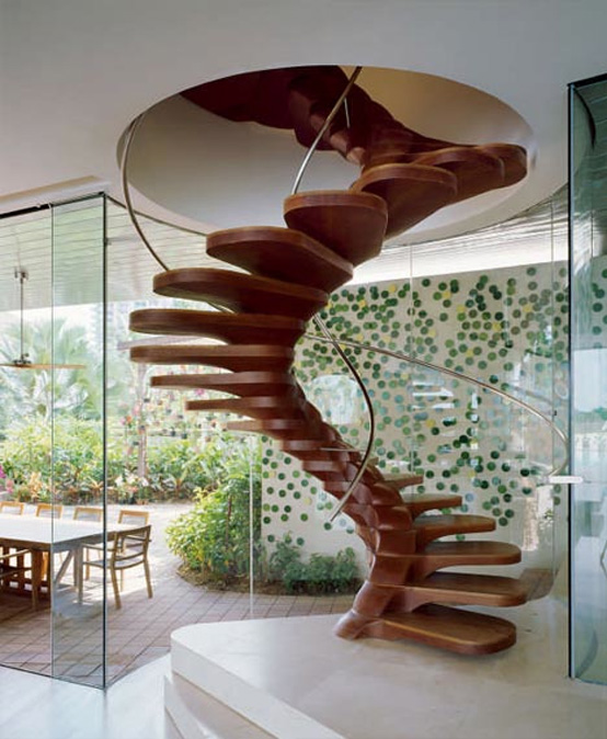 Awesome Cool Spiral Staircase Decorating Ideas