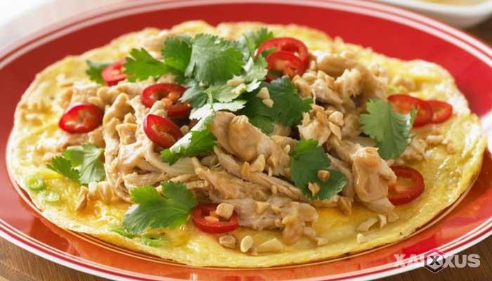 Resep cara membuat omelet ayam