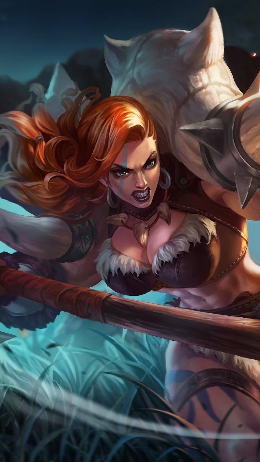 Wallpaper Hilda Power of Megalith Skin Mobile Legends HD for Mobile