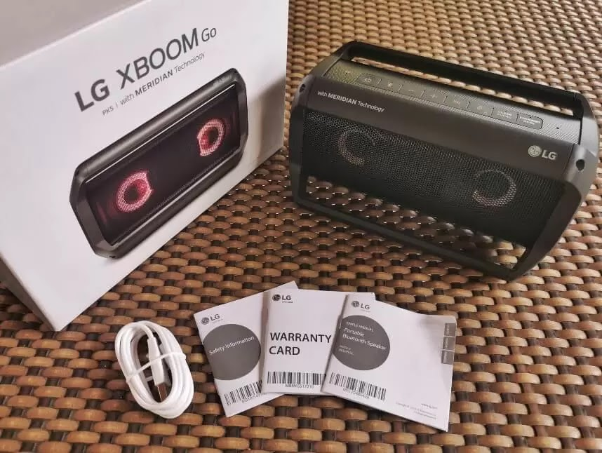 LG XBOOM Go PK5 Retail Package