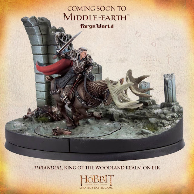 Forge World The Hobbit Thranduil Elf King On Elk Miniature