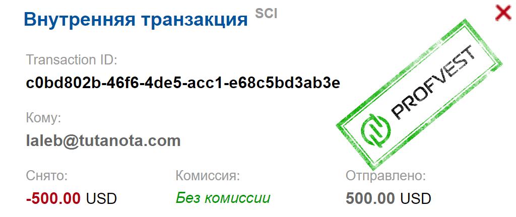 Депозит в NeoCrypto
