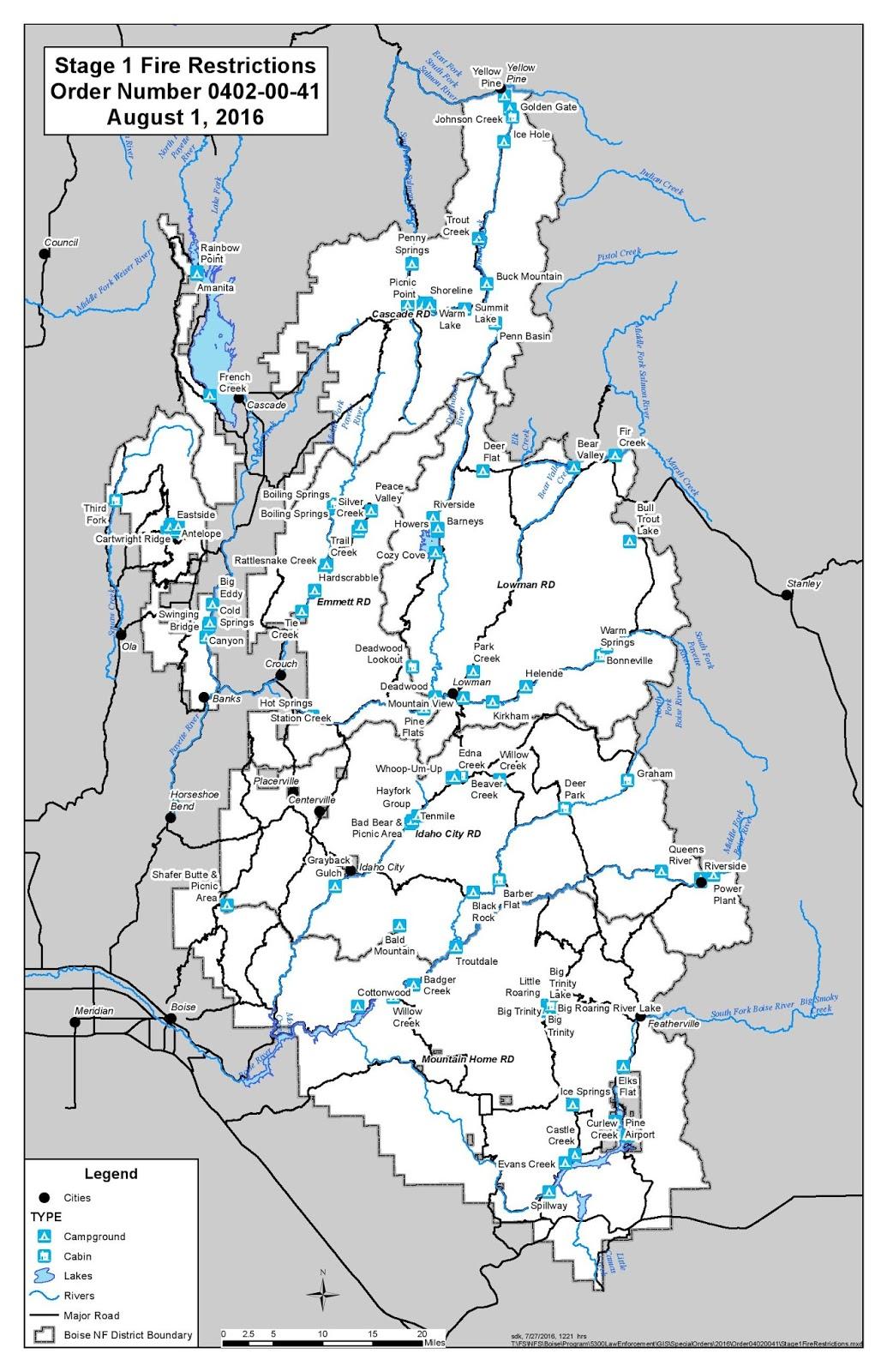 Kamiah Fire Map.Idaho Fire Information July 2016