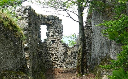 Pozostałości po zamku dolnym [fot. Anna Balasa].