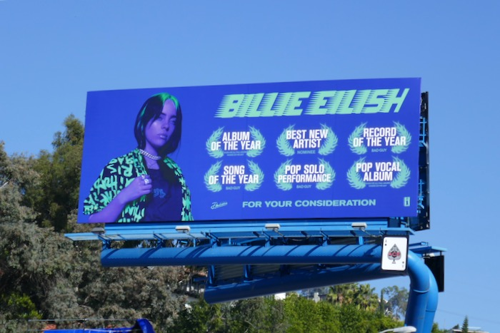 Billie Eilish Grammys FYC billboard