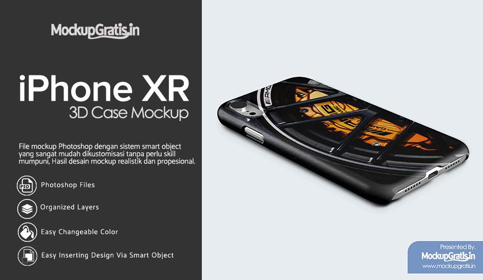 Mockup Gratis Custom Case iPhone XR
