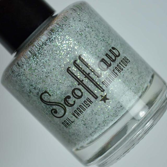 grey glitter nail polish