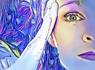 gambar kartun wanita abstrak