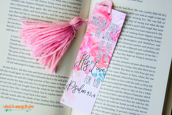 3 Free Printable Bible Verse Bookmarks | i should be mopping