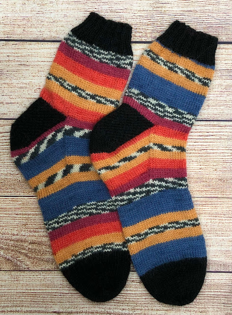 Socks knitted with Stylecraft Head Over Heels Boho in Neva