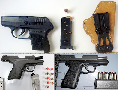 Firearms Discovered at (Top to Bottom - Left to Right) CHS, CLT, PHX