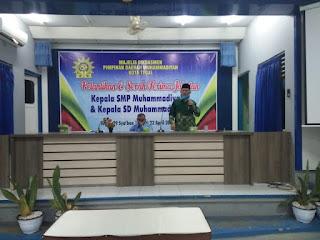 PDM Tegal Lantik Kasek SD dan SMP Muhammadiyah 3