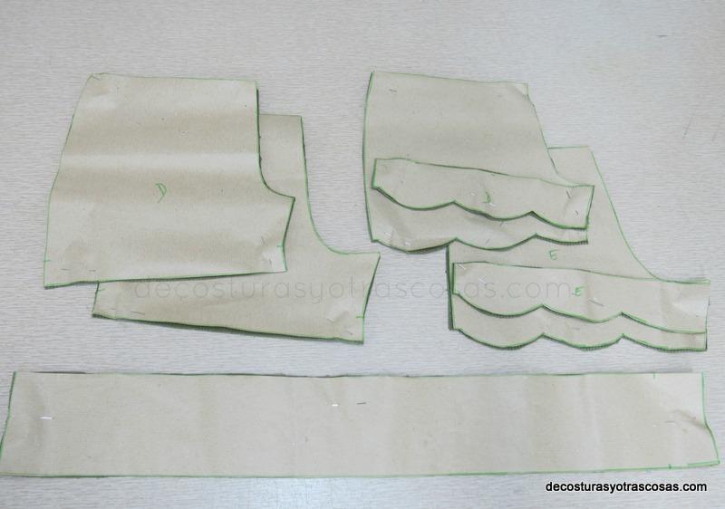 piezas patrón short niño-niña