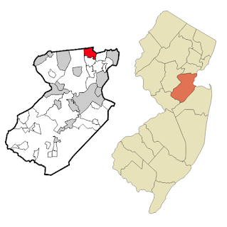 Map of NJ with Middlesex County and Colonia NJ indicated