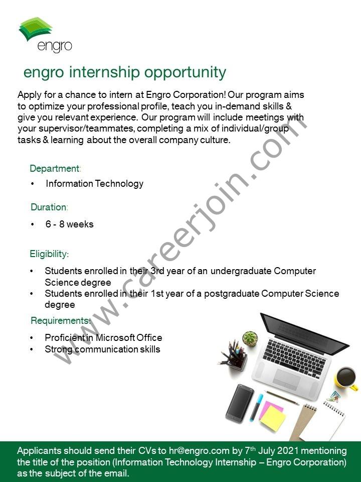 hr@engro.com - Engro Corporation Internship 2021 in Pakistan