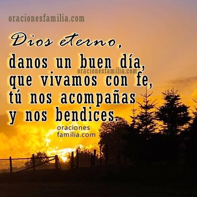 Frases de buenos días, oración de la mañana, oraciones cortas con imágenes cristianas por Mery Bracho