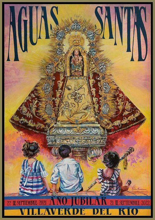 Cartel Año Jubilar de Virgen De Aguas Santas de Villaverde del Rio