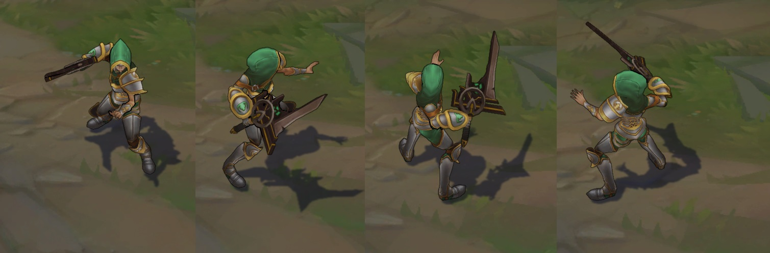 Riot, can you make Redeemed Riven Skin brighter/shinier in general
