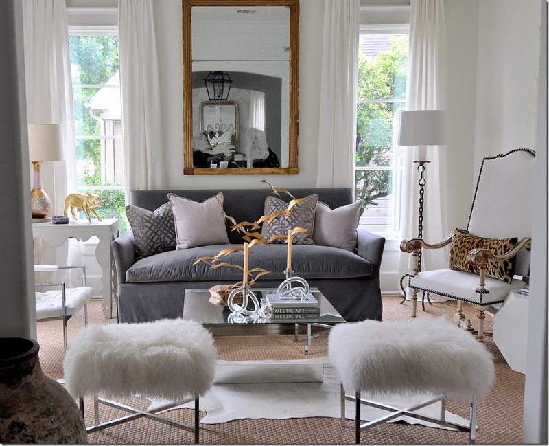 Color Outside the Lines: Gray and White Living Rooms