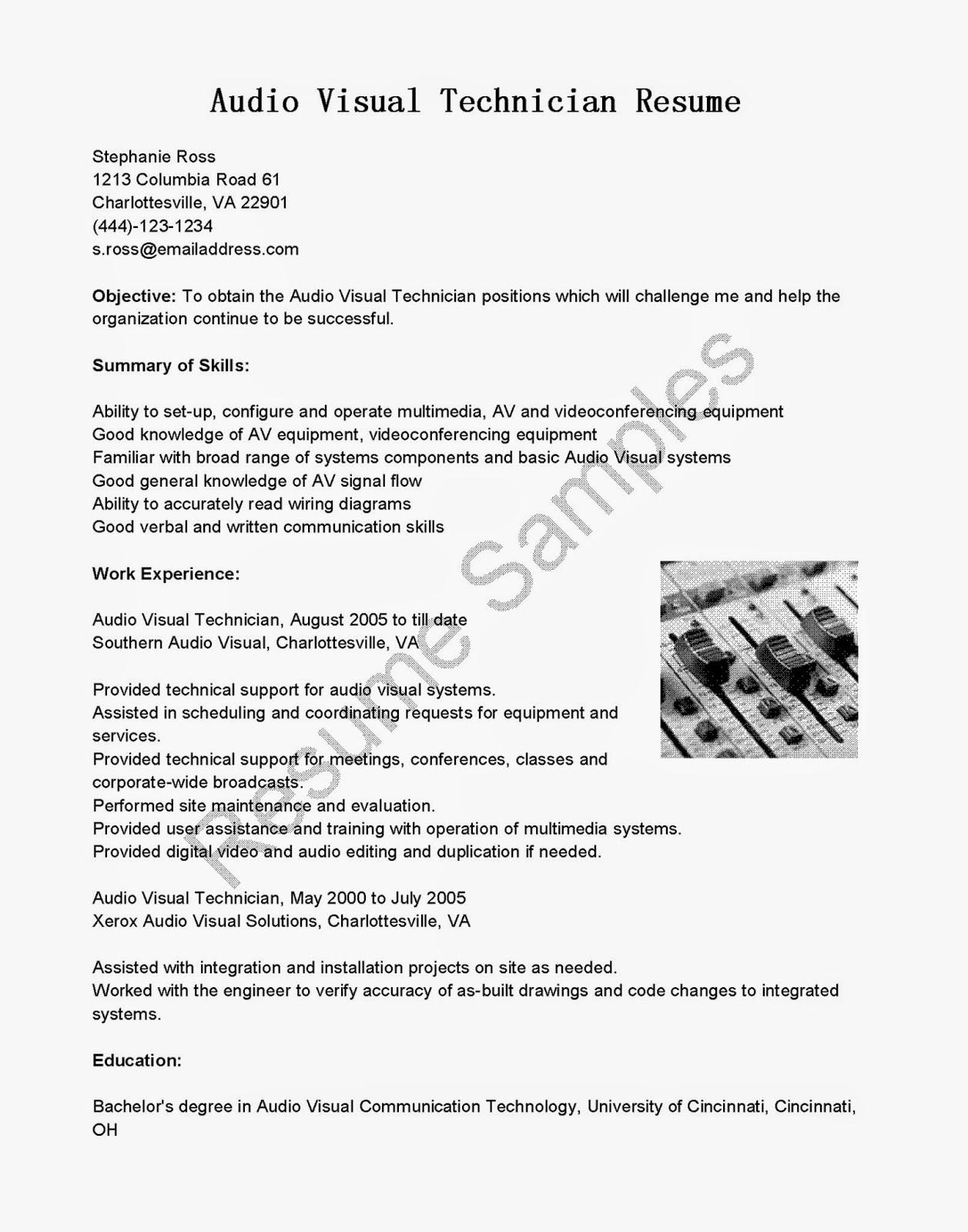 audio visual technician resume audio visual technician resume pdf audio visual technician resume sample audio visual technician resume examples audio visual technician resume objective audio video technician resume audio visual technician resume 2019 resume for audio visual technician sample resume for audio visual technician resume objective for audio visual technician