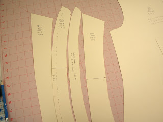 Collar and collar band pieces in tagboard