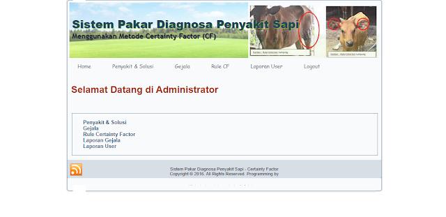 sistem pakar diagnosa penyakit hewan